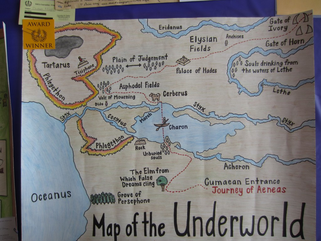 Student Map of the Aeneas' Journey Through the Underworld