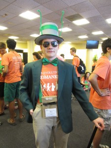 President Will Emery as the Grasshopper from 'James and the Giant Peach,' the theme of today's spirit