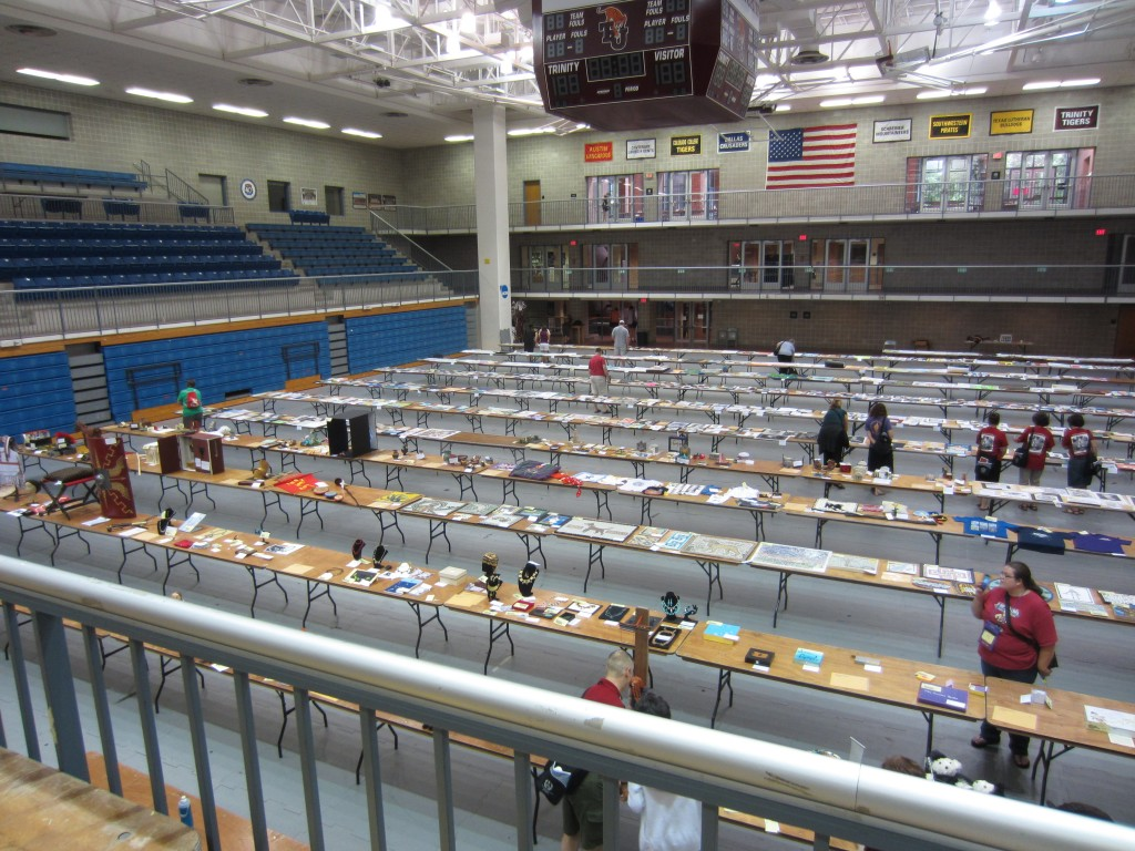 Bird's eye view of the Graphic Arts area