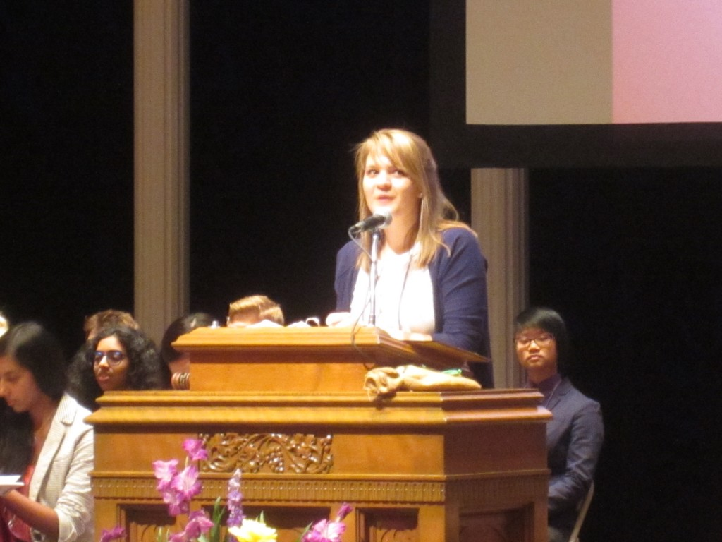 OJCL President Lindsey Dierig gave the Opening Remarks at GA 3.