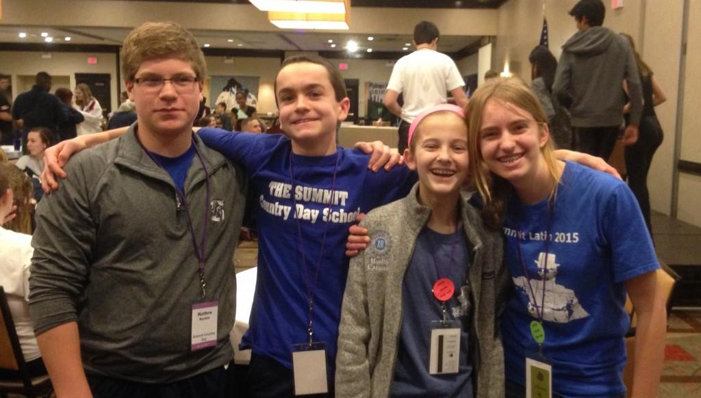 2016 State Champions (Novice Certamen): Matthew, Ryan, Connie, Kathryn